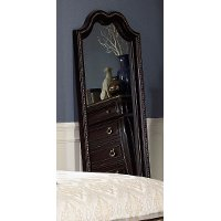 Black Cherry Traditional Floor Mirror - Palisades