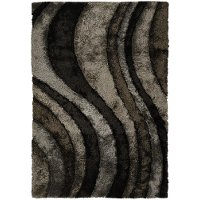 5 x 8 Medium Gray and Brown Area Rug - Flemish