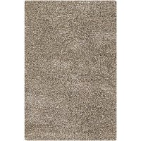 8 x 11 Large Contemporary Taupe and Ivory Area Rug - Estilo