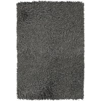 5 x 8 Medium Silver Shag Rug - Poligan