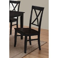 Black X-Back Dining Chair - Cape Hope Collection