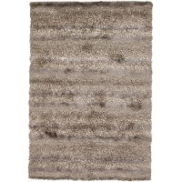 5 x 8 Medium Contemporary Ivory, Tan and Taupe Area Rug - Kappa