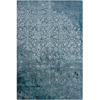 8 x 11 Large Contemporary Teal Blue Rug - Rupec