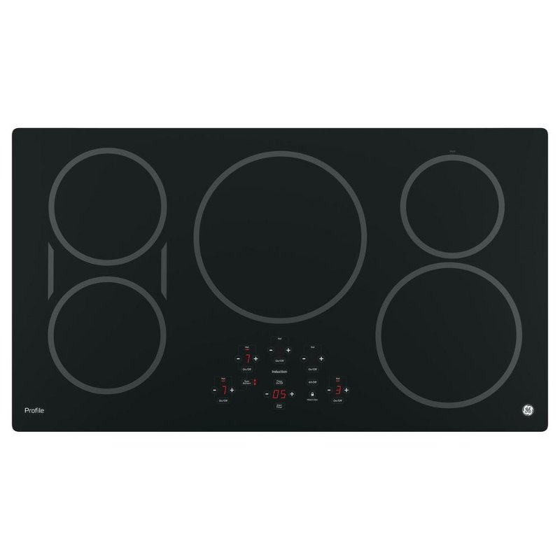 GE Profile Series 36 Inch Induction Cooktop with 5 burners - Black