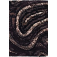 5 x 8 Medium Contemporary Brown Area Rug - Flemish