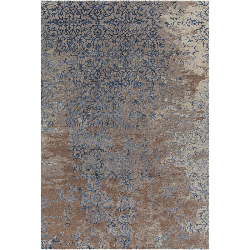 Brown And Blue Rug Rupec