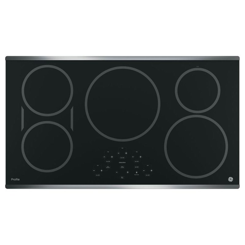 GE Profile Series 36 Inch Induction Cooktop with SyncBurners - Black