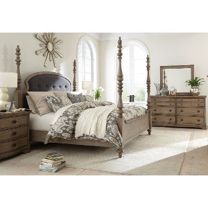 ... Light Wood Classic Traditional 6 Piece King Bedroom Set   Corinne