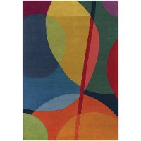 8 x 11 Large Contemporary Multi-Colored Area Rug - Bense