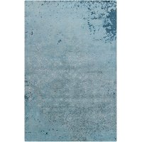8 x 11 Large Contemporary Gray and Blue Rug - Rupec