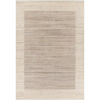 5 x 8 Medium Wool Beige Area Rug - Elantra