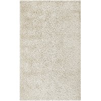 5 x 8 Medium Contemporary White Shag Rug - Zara
