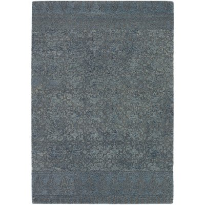 8 X 11 Large Blue Gray Contemporary Area Rug