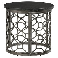 Stone Top Round End Table