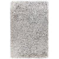 5 x 8 Medium Contemporary White Shag Rug - Onex
