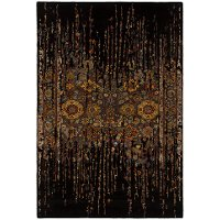 5 x 8 Medium Contemporary Black and Gold Area Rug - Spring