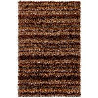 8 x 11 Large Contemporary Brown, Gray and Tan Area Rug - Kubu
