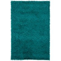 5 x 8 Medium Contemporary Blue Shag Rug - Zara