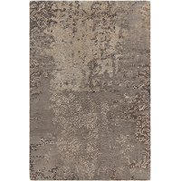 5 x 8 Medium Contemporary Gray and Beige Area Rug - Rupec