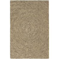 5 x 8 Medium Contemporary Beige and Taupe Area Rug - Galaxy