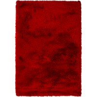 5 x 8 Medium Contemporary Red Shag Rug - Naya