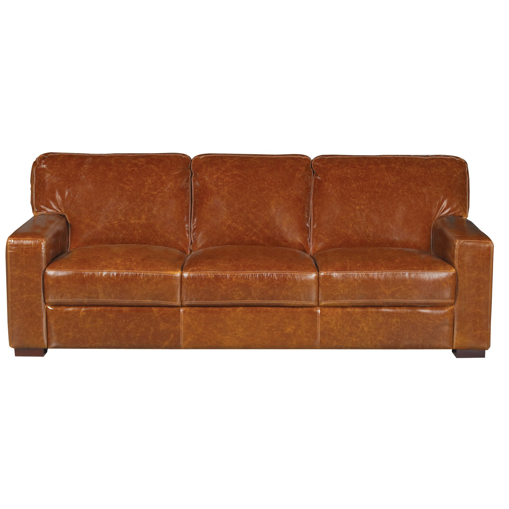 Casual Contemporary Brown Leather Sofa   Downtown   RC Willey Furniture  Store