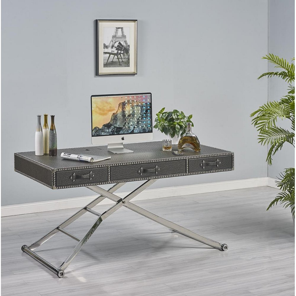 Black Adjustable Sit or Stand Desk | RC Willey Furniture Store