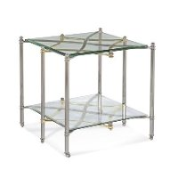 Chrome and Glass End Table - Dimensions