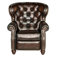 NCL700-10/JAMESRIVER Brown Leather High Leg Recliner - James River