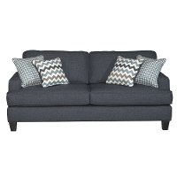 navy blue casual contemporary sofa sleeper brighton rc willey furniture store. Black Bedroom Furniture Sets. Home Design Ideas