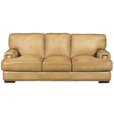 Classic Contemporary Tan Leather Sofa - Fusion | Rc Willey