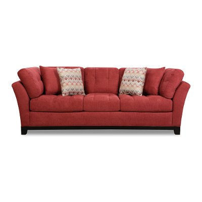 Casual Contemporary Red Sofa - Loxley