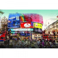 Bright Lights of the Big City Canvas Wall Art