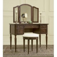 Warm Cherry Traditional Vanity Set