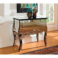 Mirrored 2 drawer console table rc willey furniture store for Sofa table rc willey