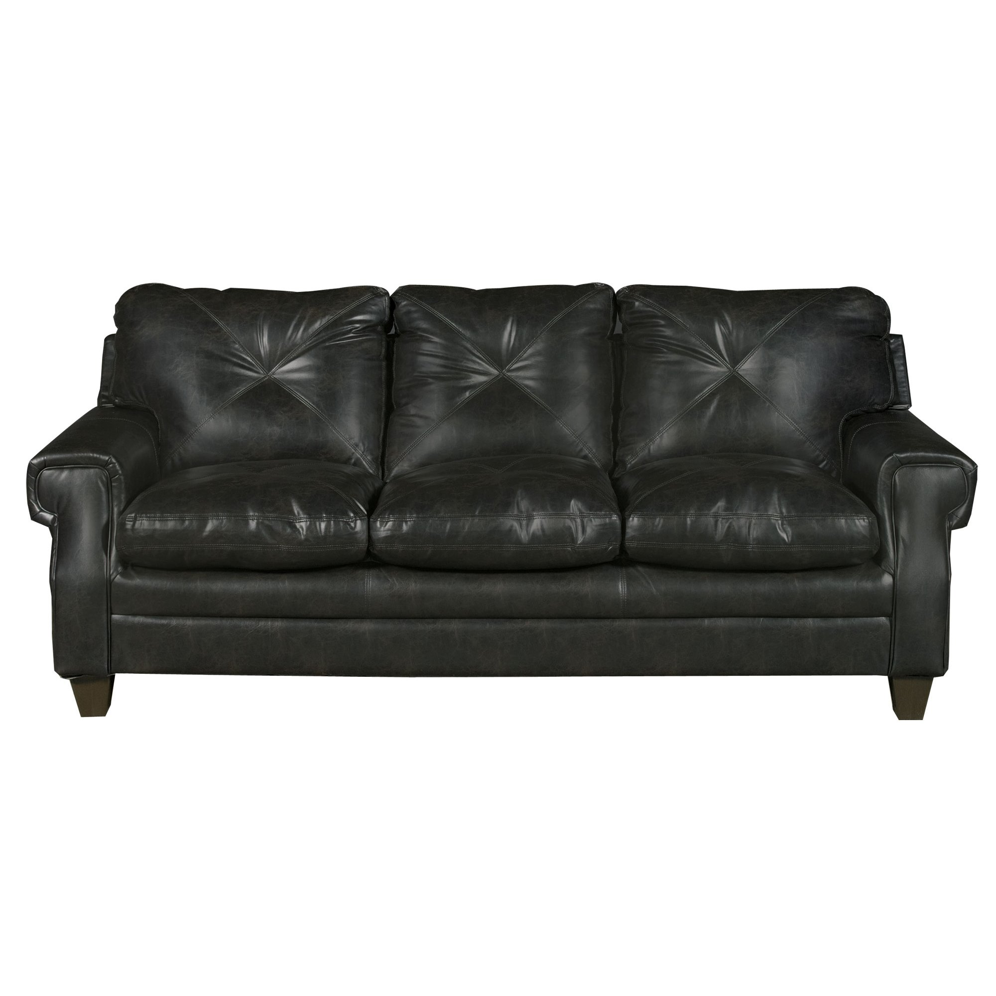 classic dark brown sofa lucky