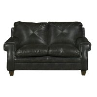 Classic Contemporary Dark Brown Loveseat - Lucky