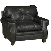 Classic Contemporary Dark Brown Chair - Lucky