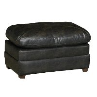 Classic Contemporary Dark Brown Ottoman - Lucky