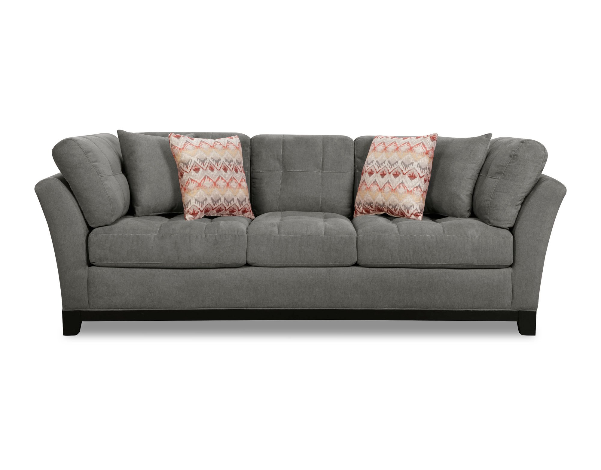 Casual contemporary gray 3 piece sectional sofa loxley for Casual couch