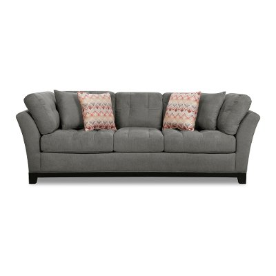 Casual Contemporary Charcoal Gray Sofa - Loxley