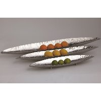 33 Inch Polished Stainless Steel Canoe Platter