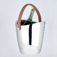 10 Inch Double Wall Boca Cooler with Leather Handle