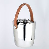 8 Inch Double Wall Boca Cooler with Leather Handle