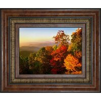 'Blue Ridge Mountain from Bluff Mountains' Framed Wall Art