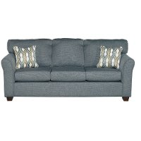 Blue Casual Contemporary Sofa - Wall St.