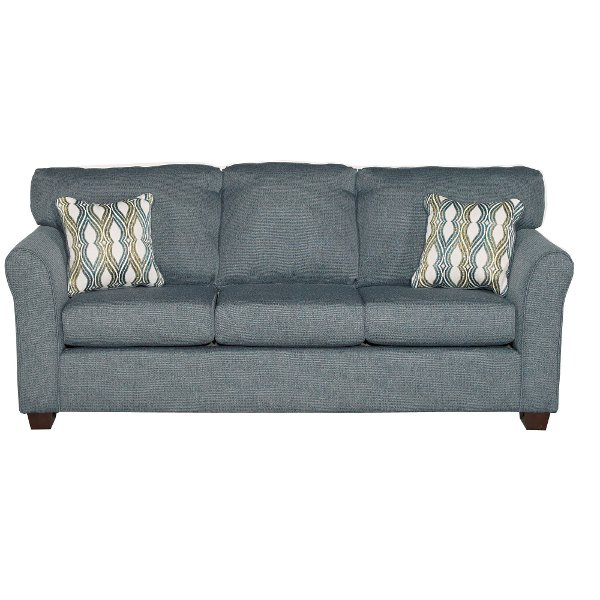 Casual Contemporary Blue Sofa Bed Wall St