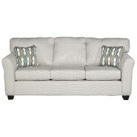 Casual Contemporary Ivory Sofa - Wall St.