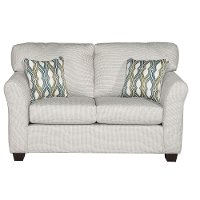 Casual Contemporary Ivory Loveseat - Wall St.