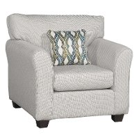 Casual Contemporary Ivory Chair - Wall St.